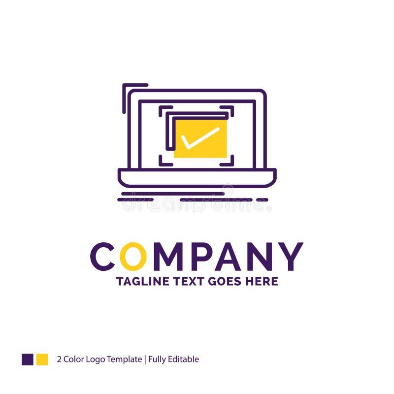 Het systeem van Firmanaamlogo design for, controle, Goede controlelijst, royalty-vrije illustratie
