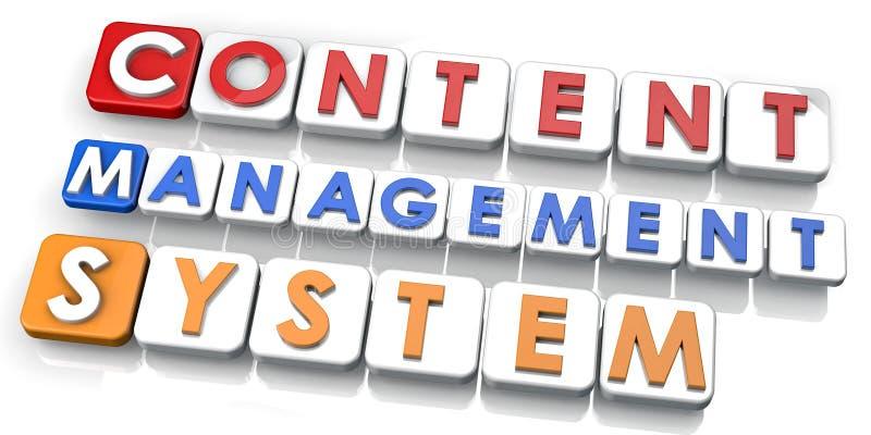 Het Systeem van het Beheer van de inhoud stock illustratie