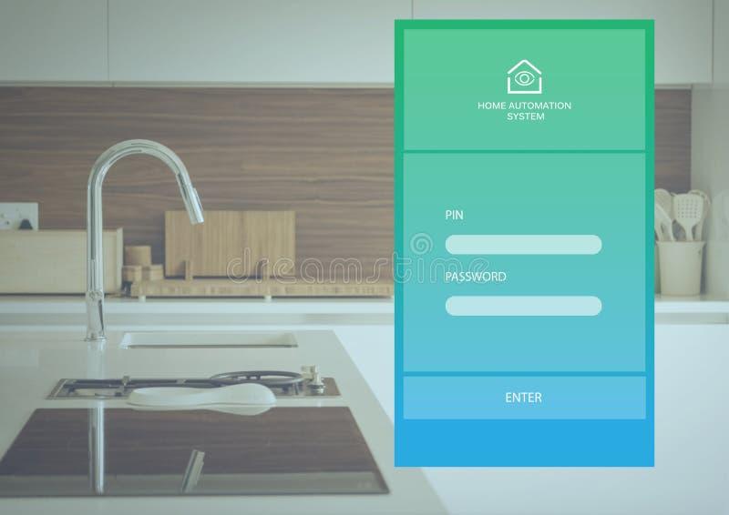 Het systeemapp van de huisautomatisering Interface vector illustratie