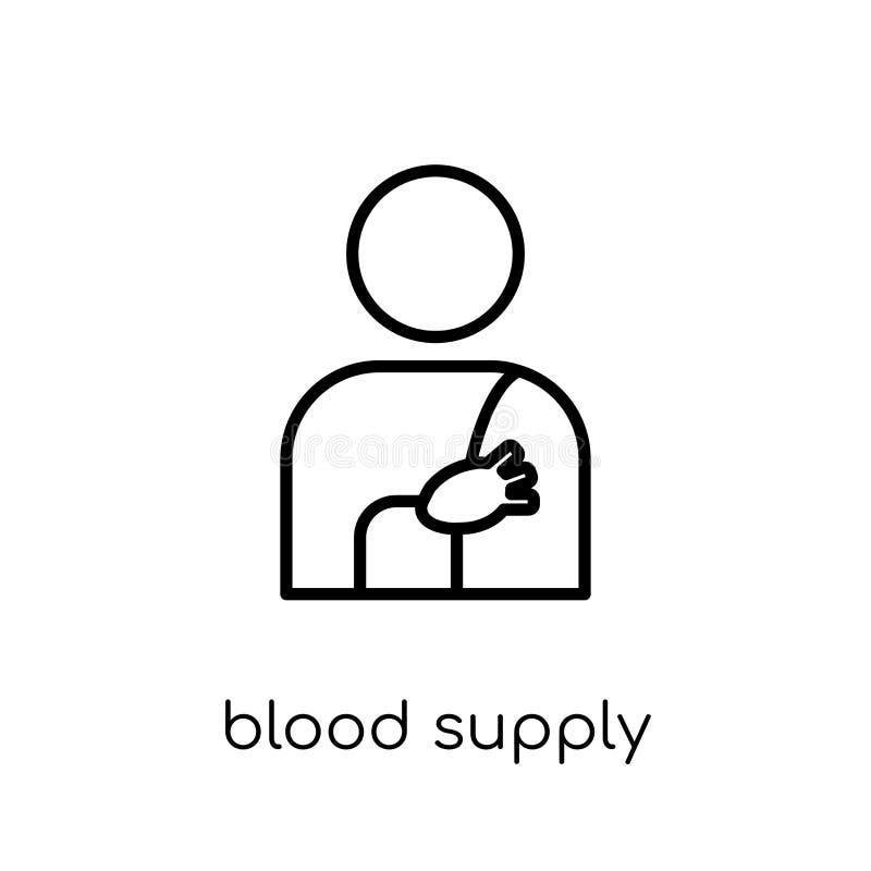 Het Systeempictogram van de bloedlevering In modern vlak lineair vectorbloed vector illustratie