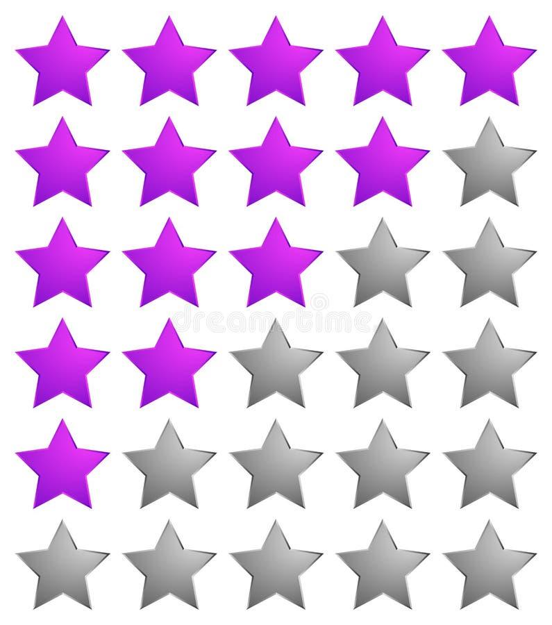 Het systeempictogram van de sterclassificatie/het Kleurrijke element van het sterontwerp voor revie stock illustratie