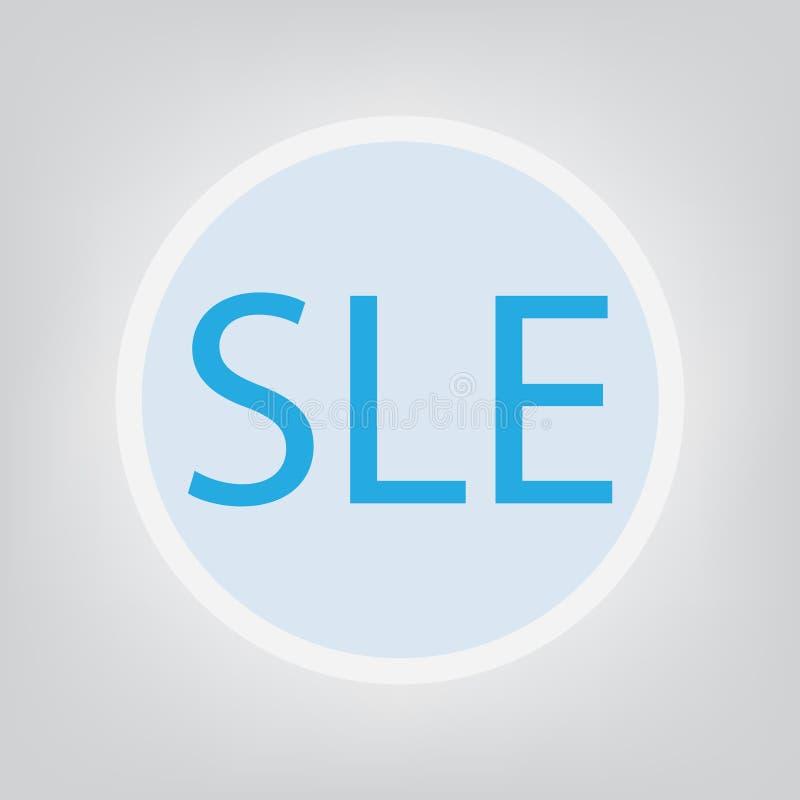 Het Systemische Lupus Erythematosus concept van SLE royalty-vrije illustratie