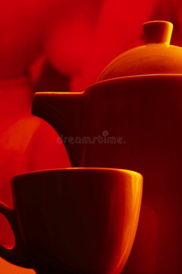 Het tafelgerei van de thee stock afbeelding