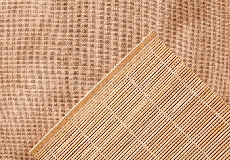 Het tafelkleed van het bamboe stock afbeelding