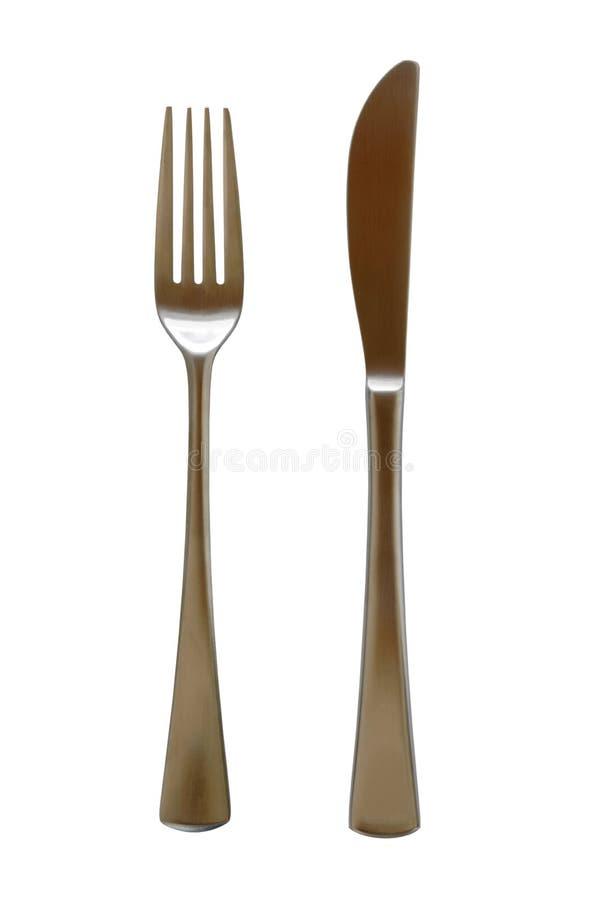 Het tafelzilver van de vork en van het Mes royalty-vrije stock foto