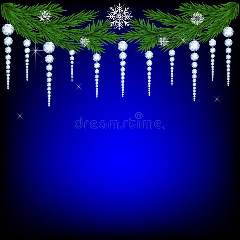 Het takje van de Kerstmisspar royalty-vrije illustratie