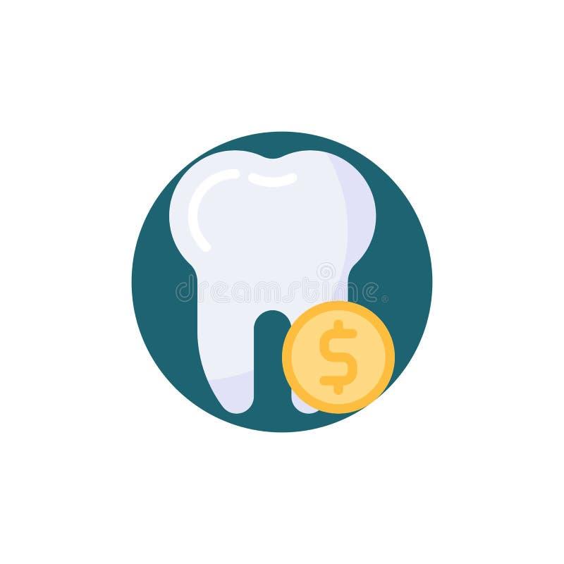 Het tand vlakke pictogram van het besparingsgeld royalty-vrije illustratie