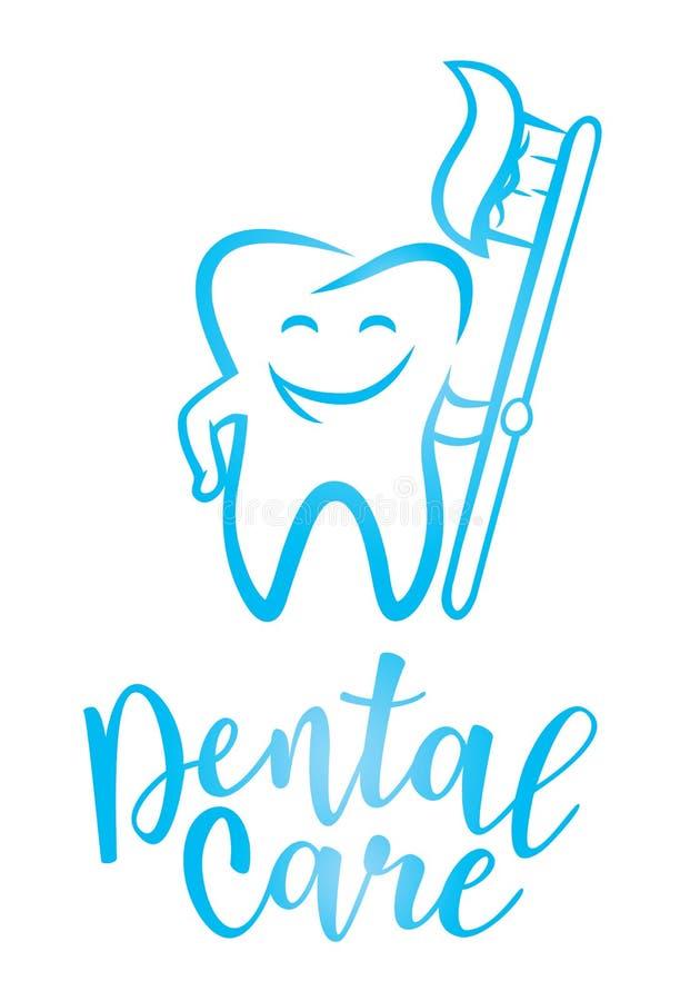 Het tandconcept van het zorgontwerp royalty-vrije illustratie
