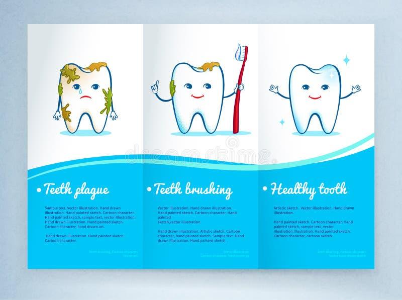 Het tandontwerp van het zorgpamflet stock illustratie