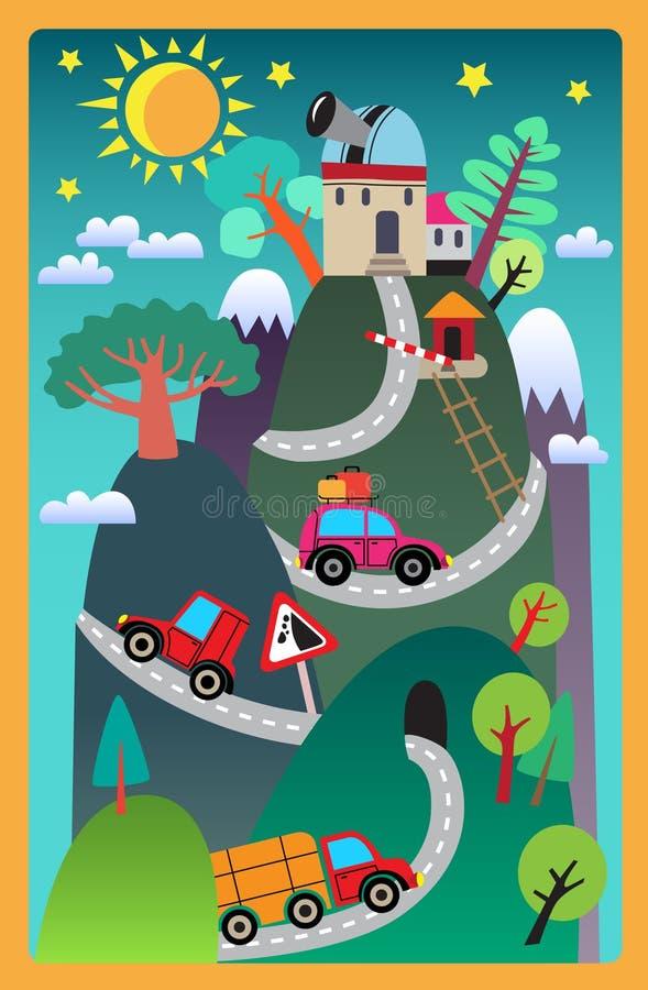 Het tapijt van kinderen royalty-vrije illustratie