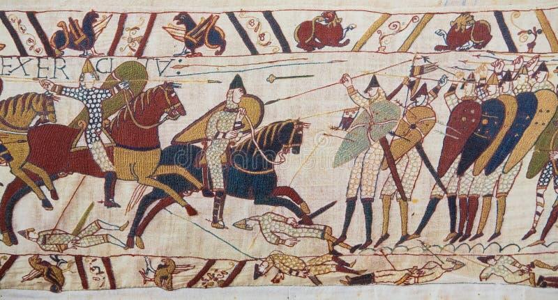 Het tapijtwerk van Bayeux stock foto