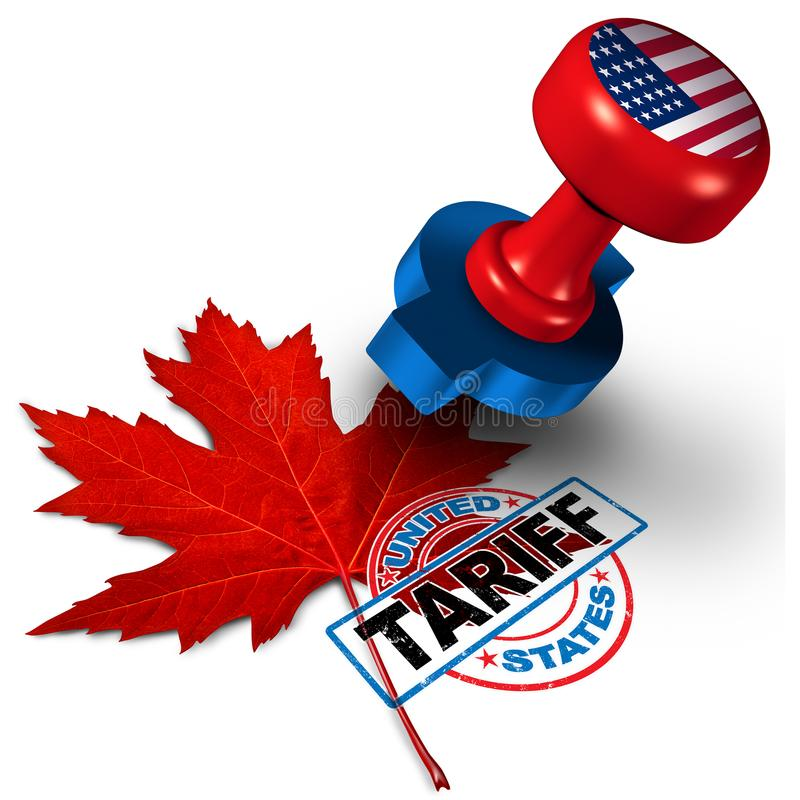 Het Tarief van Canada Verenigde Staten stock illustratie
