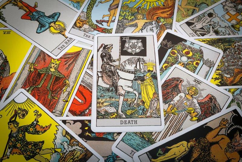 Het Tarot van tarotkaarten royalty-vrije stock fotografie