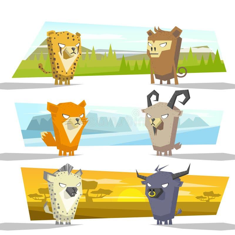 Het team B van de diereninzameling royalty-vrije illustratie