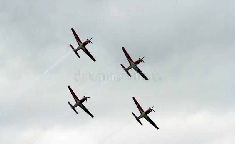 Het team van Aerobatic stock fotografie