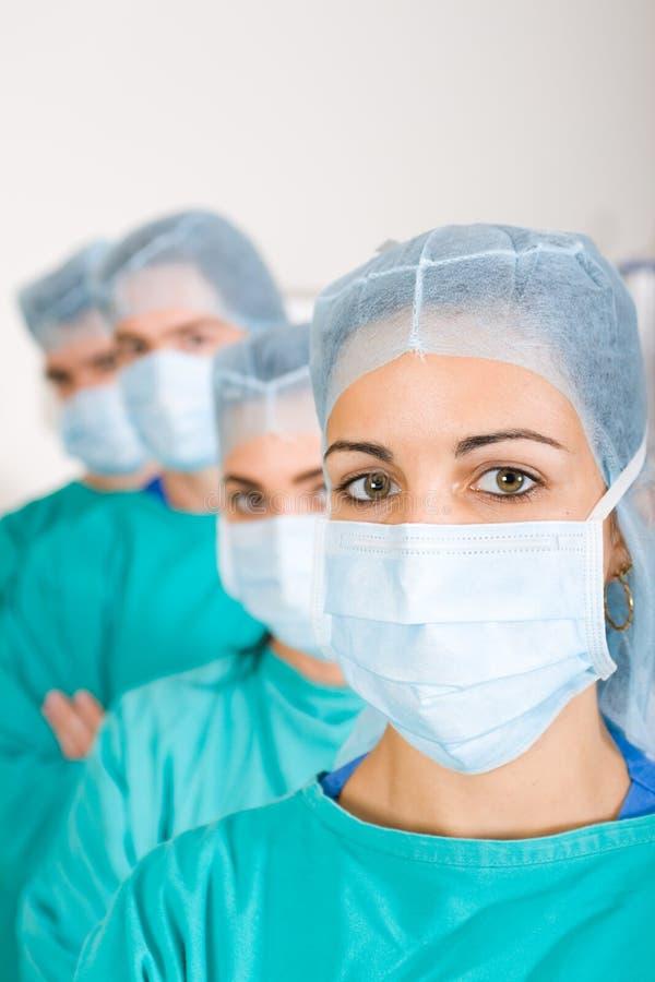 Het team van artsen stock afbeeldingen
