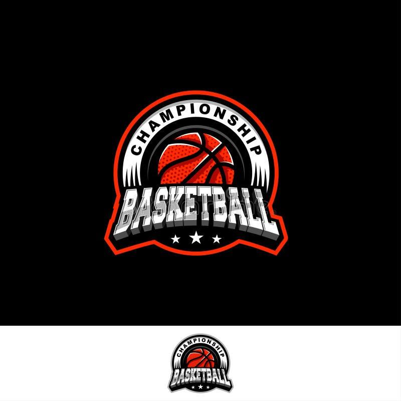 Het team van het basketbalembleem stock foto's