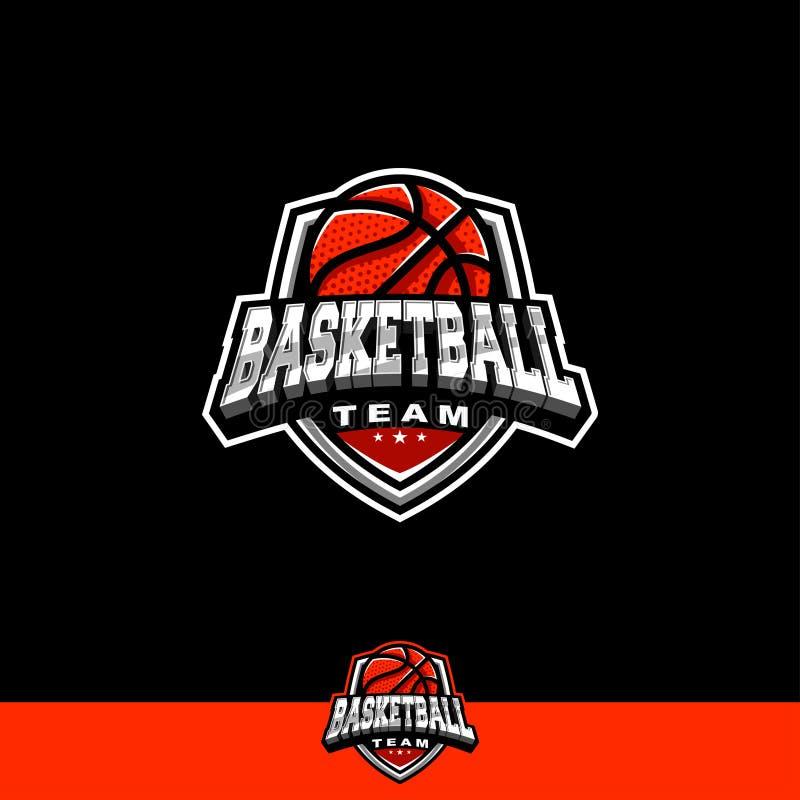 Het team van het basketbalembleem royalty-vrije stock foto