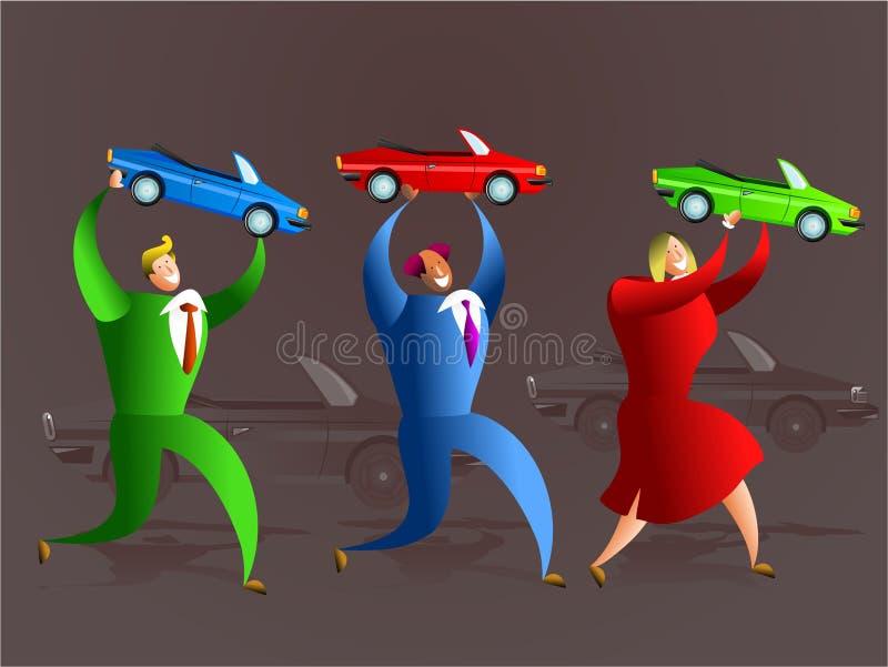 Het team van de auto royalty-vrije illustratie