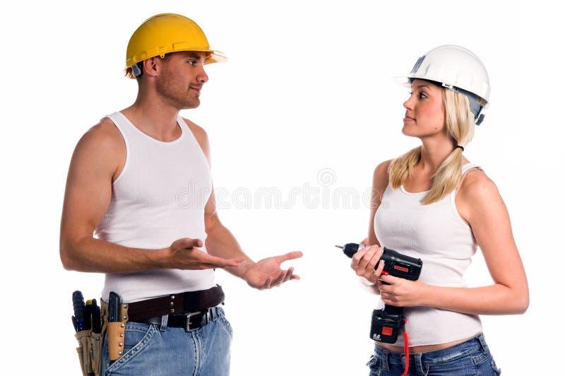 Het Team van de bouw stock afbeeldingen