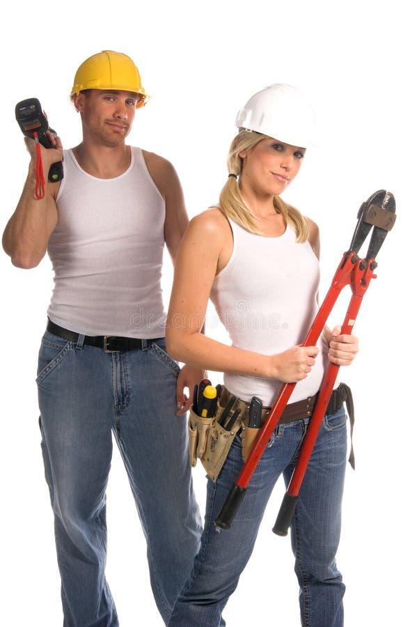 Het Team van de bouw stock afbeelding