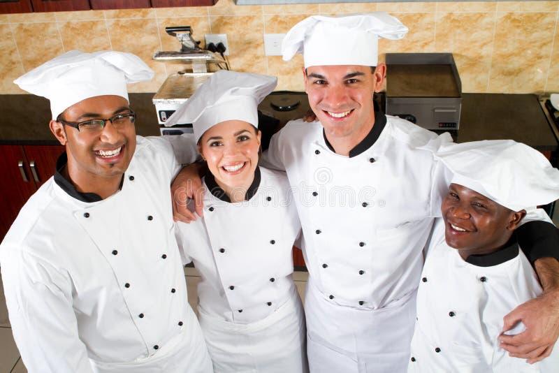 Het team van de chef-kok