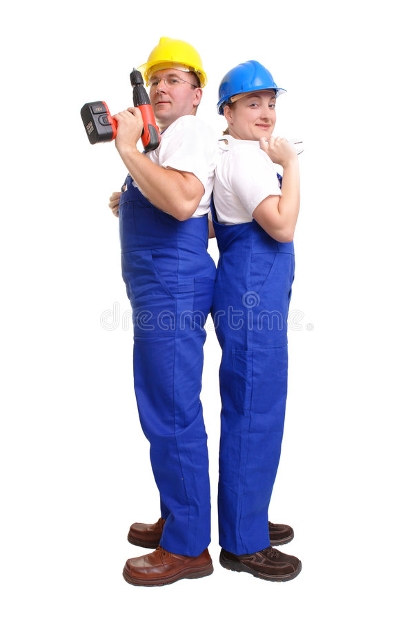 Het team van de dienst stock afbeelding