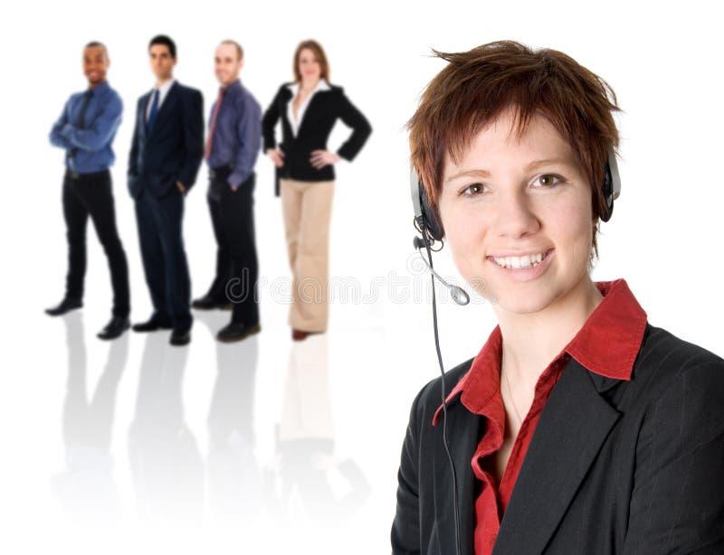Het Team van de Dienst van de klant stock fotografie