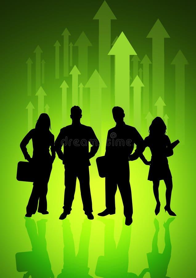 Het Team van de Richting van de energie royalty-vrije illustratie