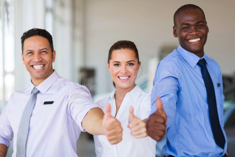 Het team van de voertuigverkoop royalty-vrije stock foto