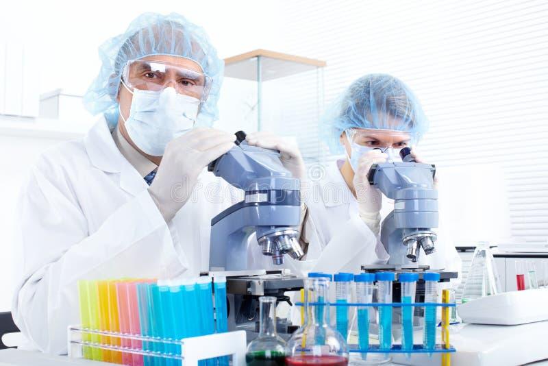 Het team van de wetenschap royalty-vrije stock afbeelding