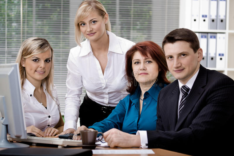 Het team van het bureau stock foto's