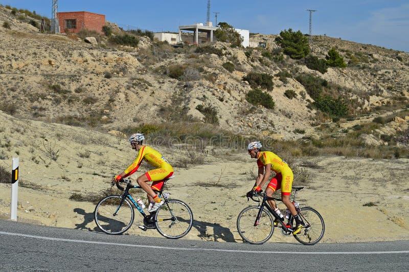 Het Team van het cyclusras stock foto