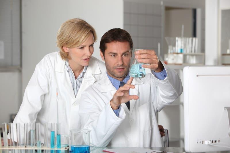 Het team van het laboratorium stock foto