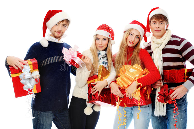 Het team van Kerstmis royalty-vrije stock afbeelding