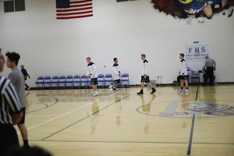Het team van het middelbare schoolbasketbal royalty-vrije stock foto