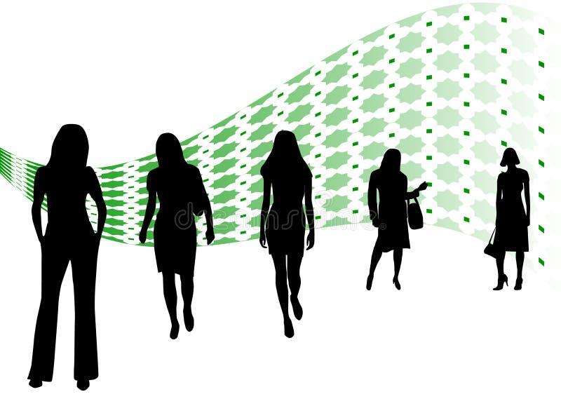 Het team van vrouwen stock illustratie