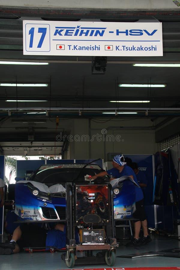 Het teamgarage van Honda van Keihin, SuperGT 2010 royalty-vrije stock foto