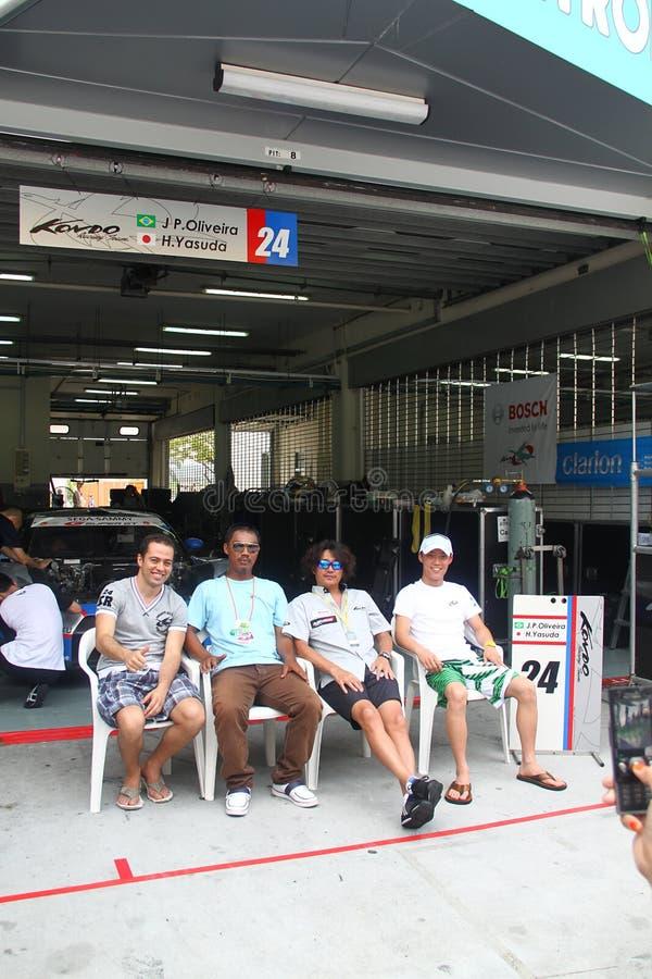 Het teamgarage van Nissan van Kondo, SuperGT 2010 stock foto