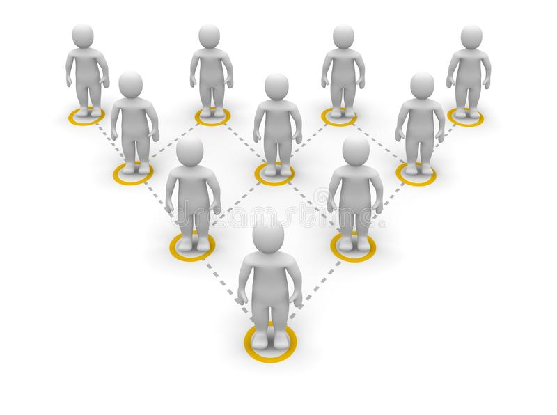 Het teamhiërarchie van de piramide stock illustratie