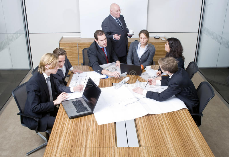 Het teamvergadering van het ontwerp royalty-vrije stock foto's