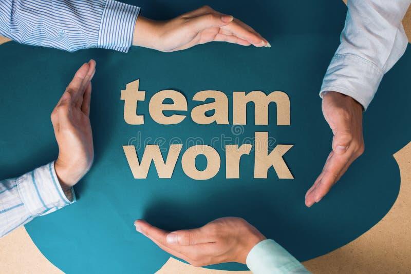Het teamwerk stock afbeeldingen