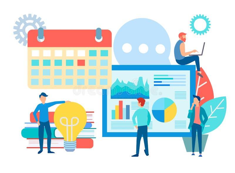 Het teamwerk en van de Weboptimalisering concepten vectorillustratie vector illustratie