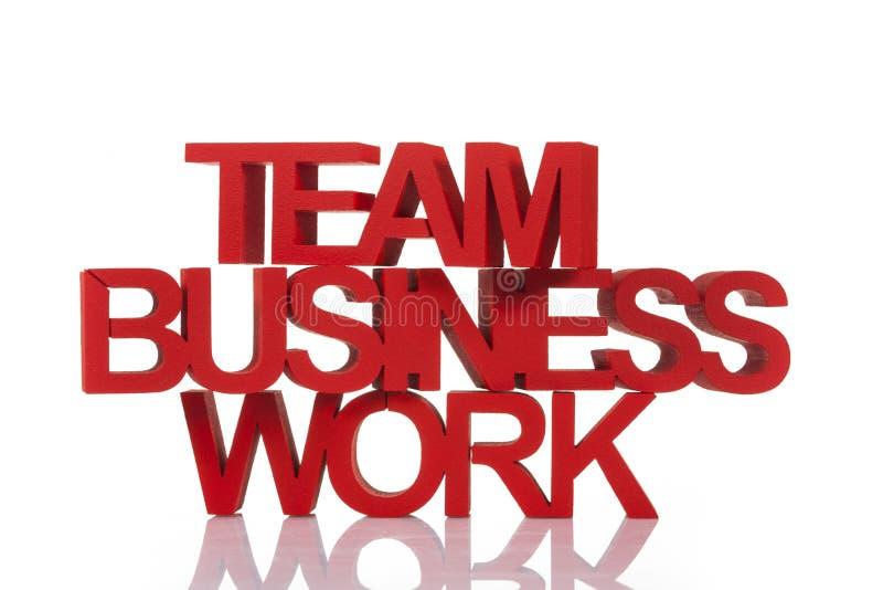 Het teamwerk in zaken stock fotografie