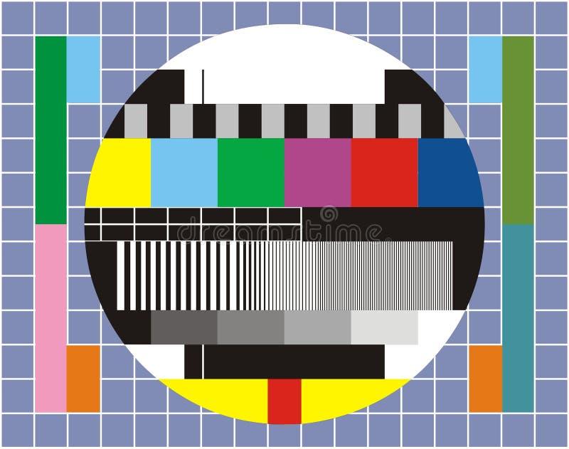 Het technische overzicht van TV vector illustratie