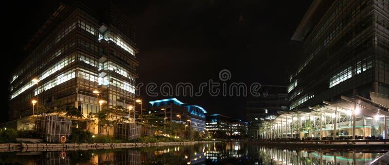 Het Technologiepark van de Wetenschap en van het van Hongkong bij Nacht royalty-vrije stock foto's