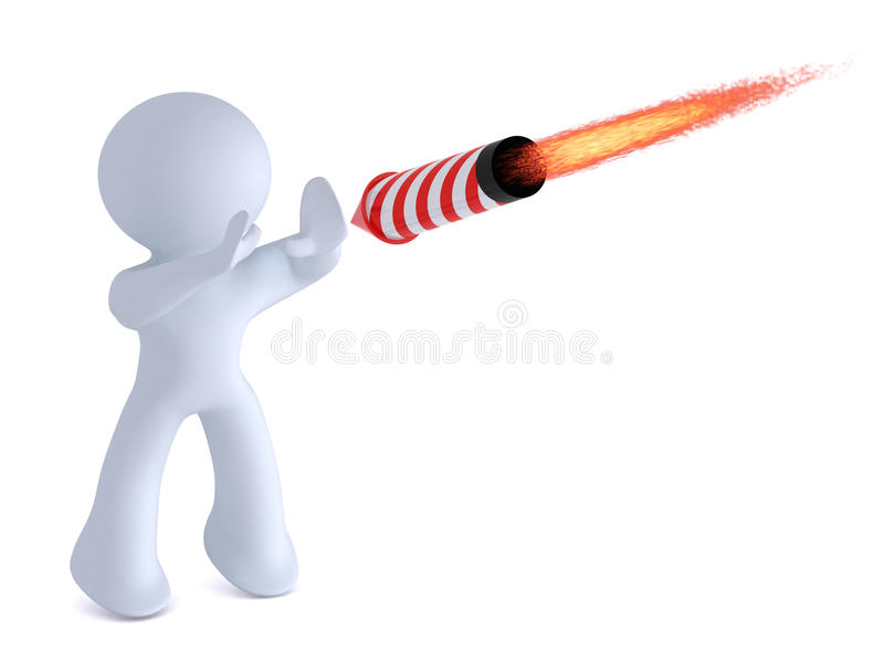 Het tegenhouden van de raket stock illustratie
