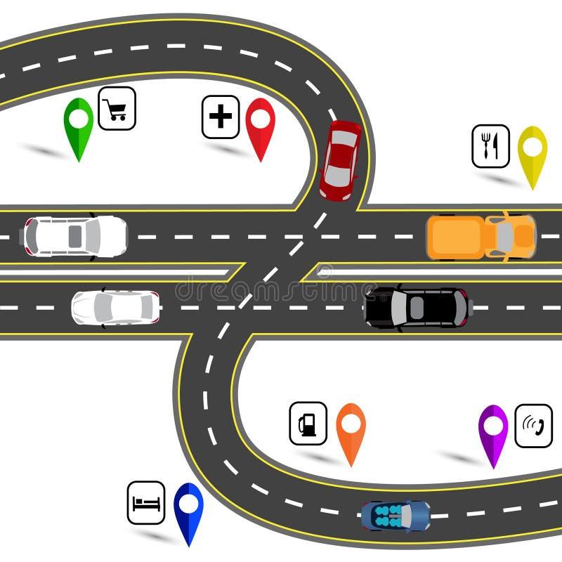 Het teken die van de wegverbinding Engelse ponden eraan herinneren Manier aan de navigator voor Groot-Brittannië vector illustratie