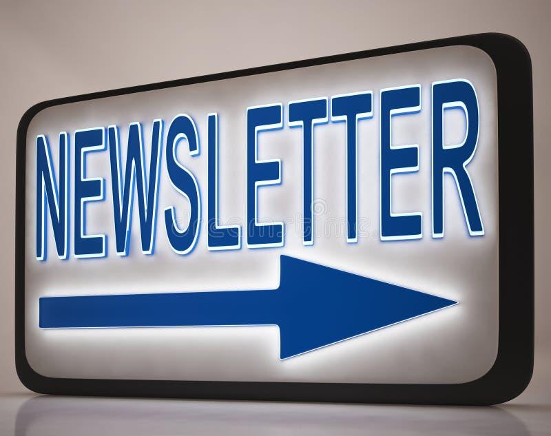 Het Teken Die Van Het Bulletin De Post Van Het Nieuws Tonen Royalty-vrije Stock Foto's
