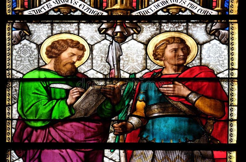 Het Teken en Heilige Demetrius van heilige royalty-vrije stock fotografie